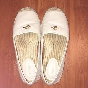 Cream Coach Espadrilles